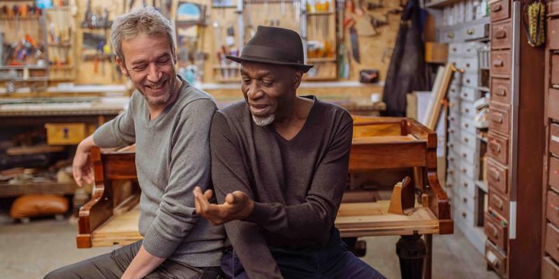 invitation studio bleu Ray Lema & Laurent de Wilde