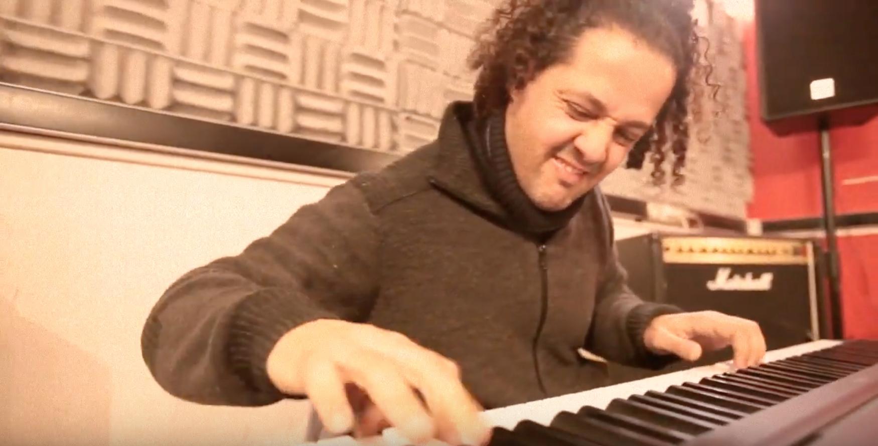 Yacine Malek, Michel Alibo et Karim Ziad en répétition à Studio Bleu Paris